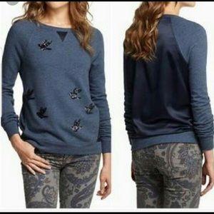 Anthropologie sequin sweatshirt
